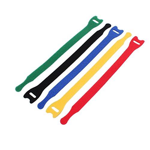 Aexit 5 Stücke 21 cm Länge Nylon Abnehmbare Verschluss Schleife Krawattenriemen Gürtel Kabel Veranstalter (37c79aade2ba5a2985494e5d7fa3941c)