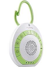 MyBaby SoundSpa sömnhjälpmedel för baby – ljudmaskin, vitt brus och lugnande ljud för barn och vuxna, vit brusmaskin baby med timerfunktion & ljusterapi – perfekt för resor