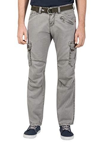 Timezone Herren BenitoTZ Cargo Pants incl. Belt Hose, Grün (Dusty Olive 4175), W36/ L34