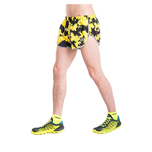 Nessi Short MSL Fitness Pantalon de Course Jogging Yellow Ink XL 02 Yellow Ink