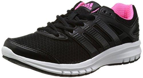 adidas Unisex-Erwachsene Duramo 6 Laufschuhe, Schwarz (Black 1 / Black 1 / Neon Pink), 44 EU