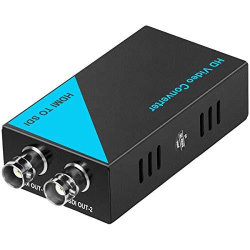 Adaptador convertidor de Audio y Video HDMI a SDI Compatible con 1080p HDMI a HD/SD / 3G - Convertidor de señal SDI para Centro de Control de Datos, Sala de reuniones, capacitación empresarial