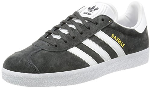 adidas Unisex-Erwachsene Gazelle Low-Top, Grau (DGH Solid Grey/White/Gold Met.), 39 1/3 EU