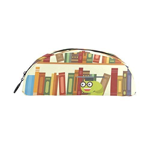 FANTAZIO Stiftetui für Ggirls Bookworm Bücherregal Make-up Tasche