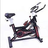 Acobonline Bicicleta Estatica Spinning Fitness, Bicicleta Profesional para Uso domestico,con Monitor,Calidad Profesional (Negro)
