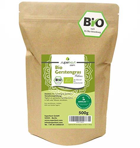 Superkost Bio Gerstengras, mit Laborprüfsiegel, Rohkostqualität, 1er Pack (1 x 500 g)