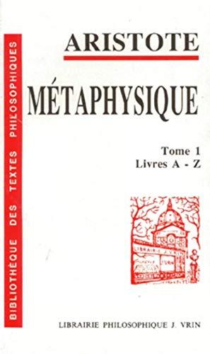 Métaphysique, tome 1