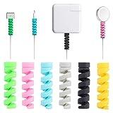 Cable Protector, 16 Piezas Android iPhone Cables Protector, Línea De Datos Protector De Cable del Cargador De Teléfono, para Macbook De Auriculares USB, Color Aleatorio
