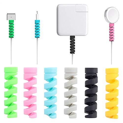 Protezione per Cavi, Protettore per Cavo di iPhone Android da 16 Pezzi, Cavo Salvacavo per Caricabatterie per Telefono Dati, per MacBook per Cuffie USB, Colore Casuale