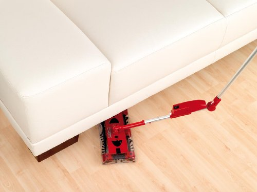 CLEANmaxx 07146 Swivel Sweeper G2 mit Ellenbogengelenk| Bodenkehrer | Akkubesen | Rot - 3
