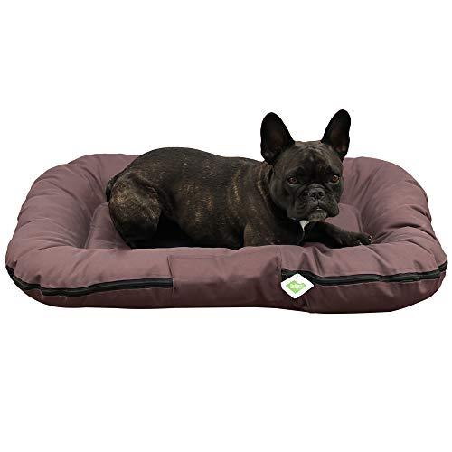Top-Multi Hundebett - Hundematratze für kleine Hunde Farbe Dunkelbraun 60cm x 90cm