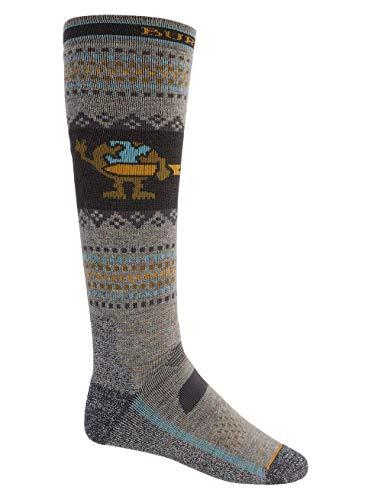 Burton Herren Snowboard Socken Performance Midweight, Oatmeal Heather, S, 19831103250