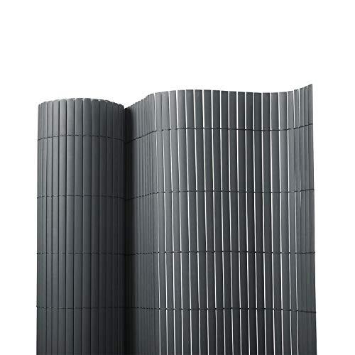 Floordirekt PVC Sichtschutz für Garten, Balkon & Terrasse Sichtschutzzaun | Sichtschutzmatte | Outdoor-Sichtschutz | Erhältlich in vielen Farben und Größen (150 x 300 cm, Grau)