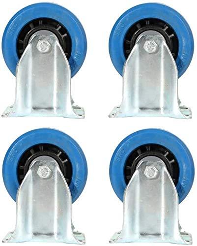 ruedas pivotantes para mueble Heavy Duty Caster, 4 piezas de carga industrial Rueda Rodamientos solo 110 kg Sin freno for los escritorios Armarios Sillas giratorias Tamaño Nombre: 5 pulgadas Nombre de