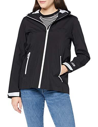 Superdry Womens HYDROTECH Harpa Waterproof Rain Jacket, Black, S (Herstellergröße:10)
