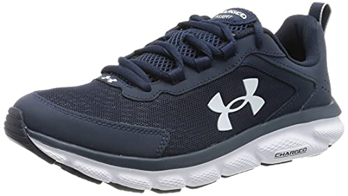 Under Armour Men's Charged Assert 9, Academy Blue (400)/White, 11 X-Wide US