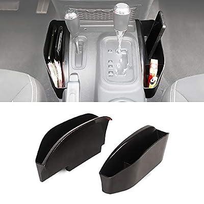 Savadicar GearTray Gear Shifter Console Side Storage Box Manual Transmission Side Organizer Tray for 2011-2018 Jeep Wrangler JK JKU, Interior Accessories, Black