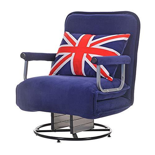 Laishutin Sofa Lounge Chair mit verstellbaren Fußstützen 3 Farben Multifunktions Moderne Relax Chair Rocking Geeignet für Wohnzimmer und Büro (Color : Blue, Size : Free Size)