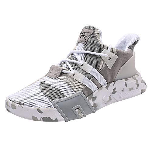 Clearance Sale [EU39-EU46] ODRD Schuhe Herren Stiefel Sneakers Männer Jungen Casual Sneakers Sport Laufen Atmungsaktive Flache Camouflage SchnüRschuhe Wanderstiefel Combat Hallenschuhe Sportschuhe
