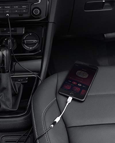Anker 3.5mm Audio Adapter mit Lightning Stecker, MFi-zertifizierter Lightning auf weiblich 3.5mm Anschluss, unterstützt Lautstärkeregelung und Mikrofon für In-Ear Kopfhörer, Over-Ear Kopfhörer usw.
