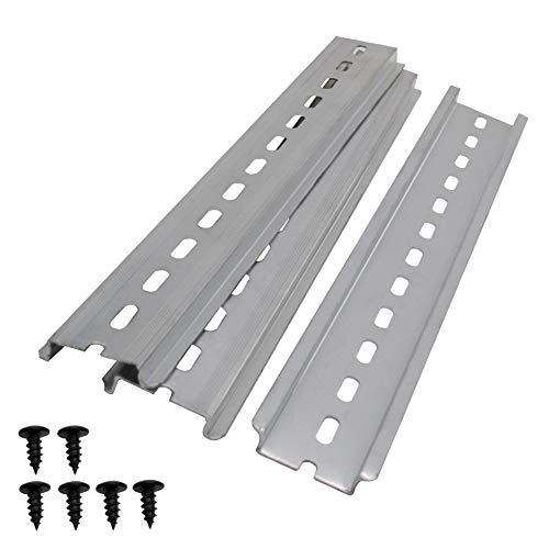 """mxuteuk 3 Stk. DIN-Schiene Schlitz Aluminium RoHS 8""""Zoll lang 35 mm breit 7,5 mm hoch MXU-DIN-200"""