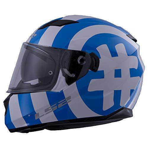 Full Face Stream Street Hashtag Blue Glow Helmet