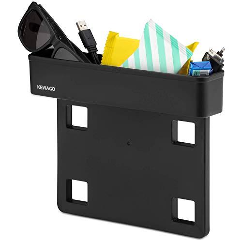Kewago Auto Organizer und Zusatzfach | Autozubehör für den Innenraum | Einfach zwischen Autositz und Konsole einsteckbar