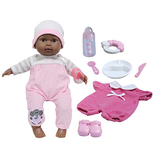 """JC Toys 15"""" Realistic Soft Body African American Baby Doll with Open/Close Eyes Berenguer Boutique 