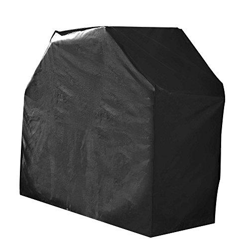 Green Club beschermhoes voor grill, waterdicht, hoogwaardig, polyester, gevoerd met PVC, L 160 x B 65 x H 95 cm, antraciet