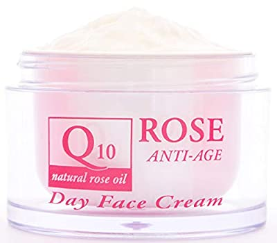 Anti-wrinkle Day Face Cream with Coenzyme Q10, 45+, Natural Rose Oil, Vitamin E and Vegetable Glycerin, Power Anti Aging, Nourishing, No Parabens, No Preservatives, 50ml. by Aroma Essence by Ae Aroma Essence