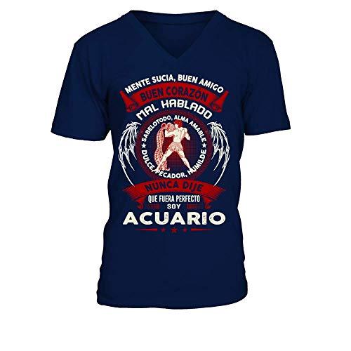TEEZILY Camiseta de Pico Hombre Soy Acuario - EDICIÓN Limitada