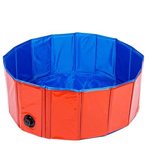 Piscina para perros, bañera plegable, interior y exterior, spa portátil para mascotas, perro pequeño y mediano tamaño, piscina infantil para perros, gatos y niños