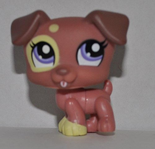 Jack Russell #1475 (Brown, Blue Eyes) - Littlest Pet Shop (Retired) Collector Toy - LPS Collectible Replacement Single Figure - Loose (OOP Out of Package & Print)