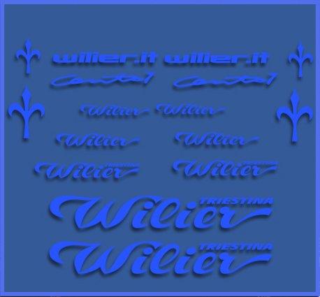 Ecoshirt HJ-CJDQ-GWT2 Sticker Wilier Dr1104 Vinyl Sticker Decal Decal Sticker MTB Fiets blauw
