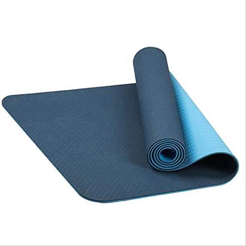 KFMJF rutschfeste TPE-yogamatten Geschmacklose Pilates-fitnessübungen Sport-Wohnzimmer-Pads Für Fitness-Bodybuilding Mit Position Line I