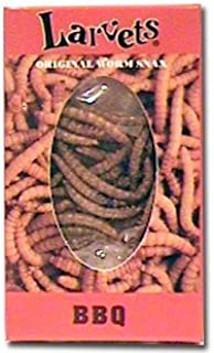 Larvets Original Worm Snax- BBQ-12 packs by Hotlix