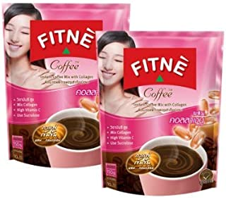 2 pack Fitne 3 in 1 Instant Coffee Mix with Collagen Slimming Coffee for Weight Loss