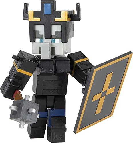 Minecraft GTT56 - Dungeons ca. 8 cm große Illager Royal Guard Sammelfigur und Zubehörteile, ab 6 Jahren