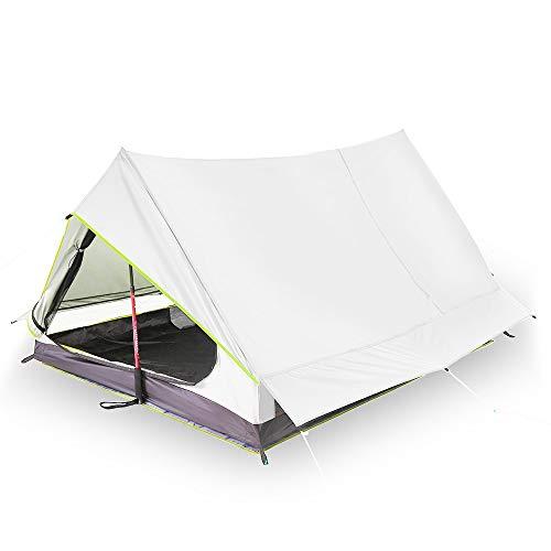 HONGHUIYANG Zelte, Ultralight 2 Person Doppel Tür-Ineinander greifen Zelt Shelter Oudoor Ultra Camping-Zelt for Camping Backpacking-Fischen-Zelt