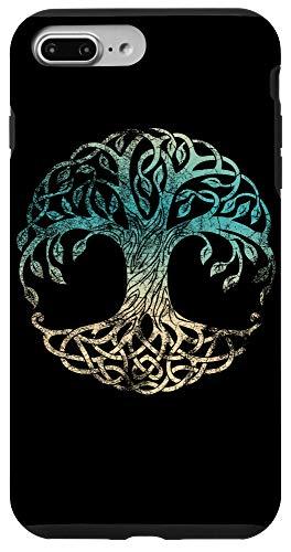 iPhone 7 Plus/8 Plus Yggdrasil Tree Of Life, Norse Viking Symbol Worn Color Case