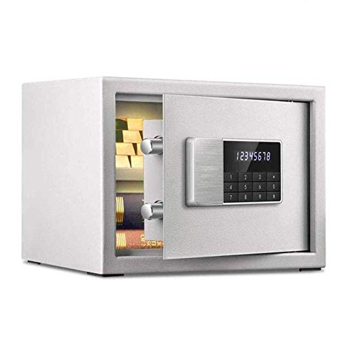 Seguros Caja fuerte digital electrónica pequeña,caja fuerteelectrónica, caja de efectivo, caja fuerte para el hogar, caja de seguridad, caja de seguridad de acero, cajas fuertes de gabinete para d