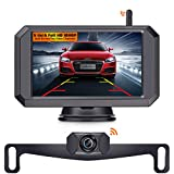 LeeKooLuu F09 HD 1080P Wireless Backup Camera 5'' Display Digital Signals 2021 Newest Chips for Trucks,Small RVs,Campers,Cars Two Video Channels Hitch Rear/Front View Observation System Night Vision