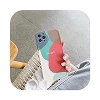 Chnan INSアーティスティックアブストラクトカラフルブロックフォンケースFor iPhone11 Pro 7 8 Plus SE 2020 XS Max X XRXSマットシリコンTPUケースキャパ-style2-For iPhone 8 plus