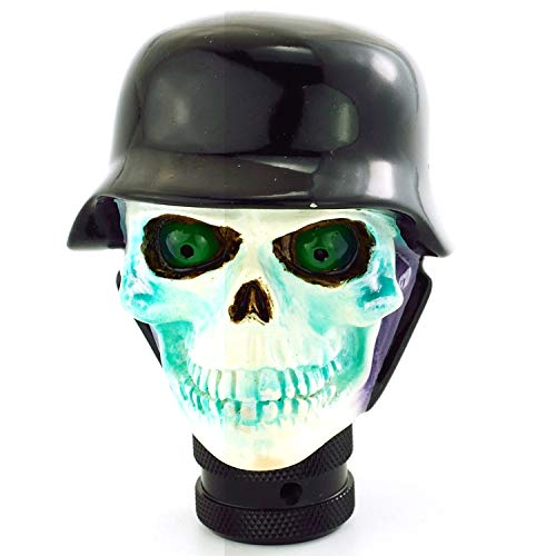 Abfer Skull Gear Shift Knob Soldier Style Car Shifter Knobs Shifting Head Lever Fit Most Automatic Manual Vehicles