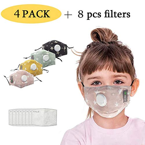 Fantastic Prices! Kids Face Bandanas with Breathing Valve Activated Carbon Filter Replaceable for Ch...