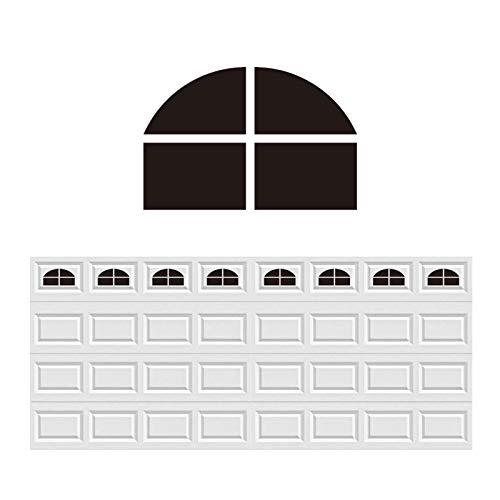 32 Sheets Magnetic Windows Panels for 2 Car Garage Doors Sector Vintage Decoration Windows- Size 6.14