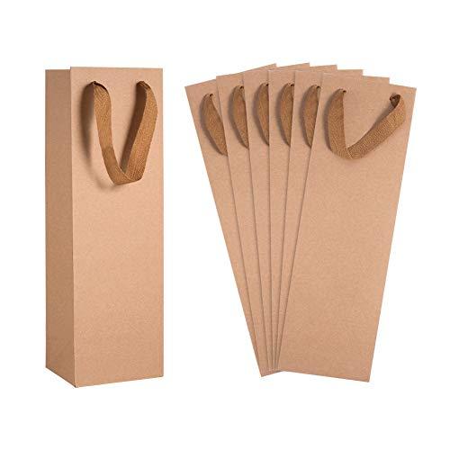 PandaHall 15 bolsas de papel kraft para bodas, cumpleaños, baby shower, regalos de fiesta, 10,9 x 9 x 34,8 cm