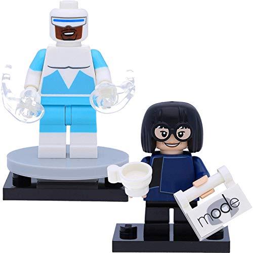 LEGO 71024 Disney 2 Edna Mode & Frozone (Los Increíbles) Minifiguras como se Muestra en la Imagen