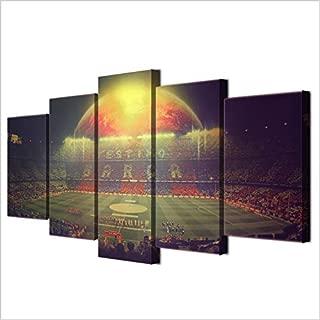 camp nou barcelona football team framed print canvas 5 pieces