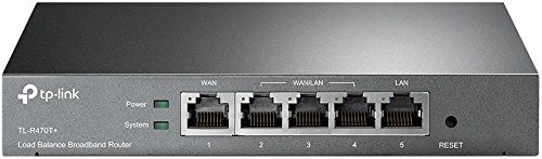 TP-Link Safestream Multi WAN Router | 4 10/100M WAN Ports w/ Load Balance Function | Portal Authencation Access Management | Abundant Security Features | Lightning Protection(TL-R470T+)
